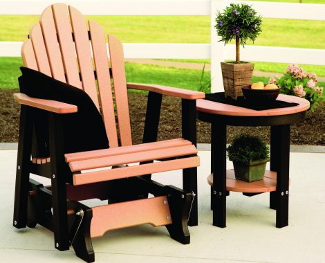 Cozi Back Single Glider Cedar on Black (Large)