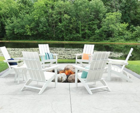 Mayhew Adirondack Set - White (Large)