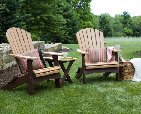 Folding Adirondack Cedar on Chocolate (Large)